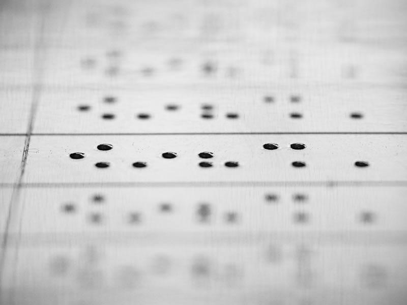 Autocollants braille