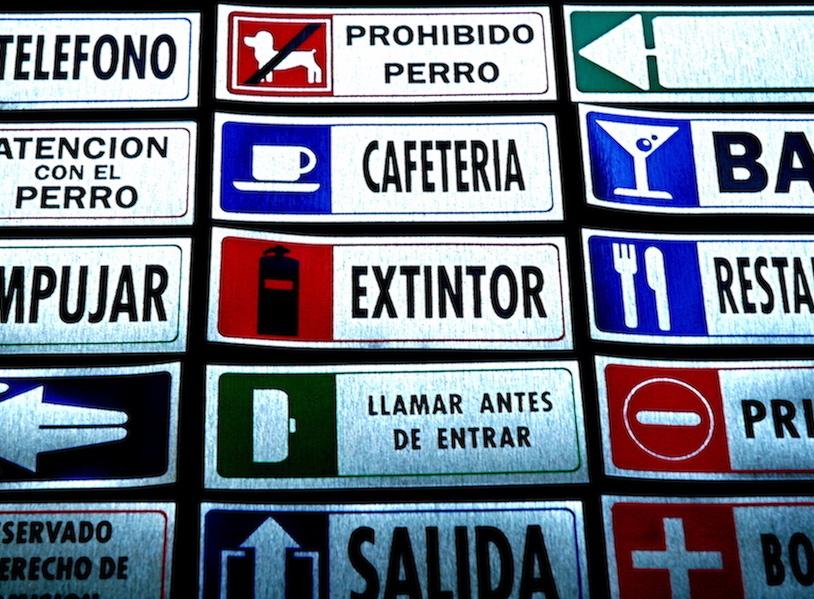 Autocollant de signalisation
